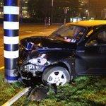 What transpired before Sergio Aguero's car crash in Amsterdam