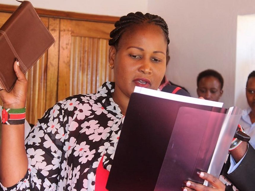 Five Kajiado executives sworn in, two rejected for 'incompetence'