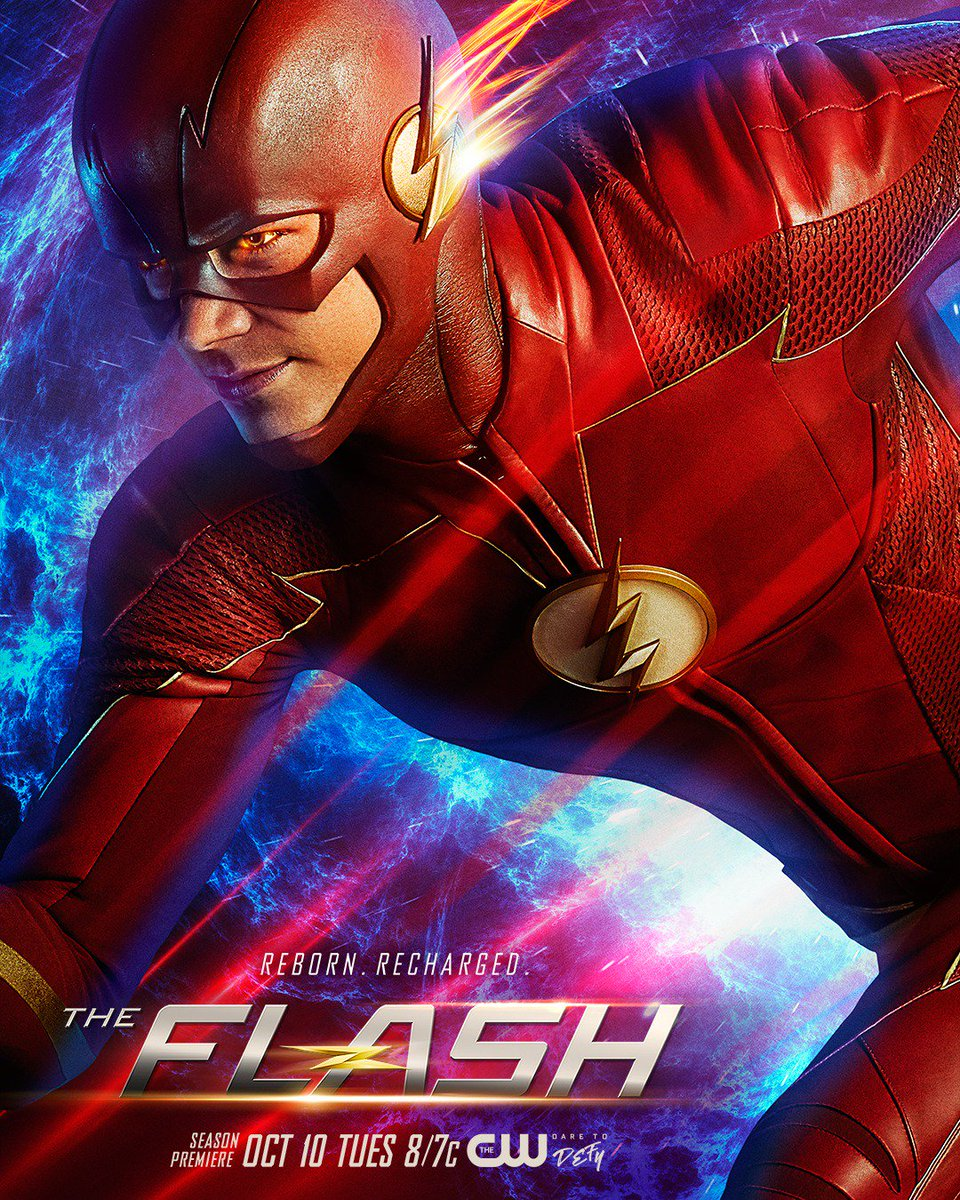 Reborn and recharged! #TheFlash premieres Tuesday, October 10 at 8/7c on The CW.