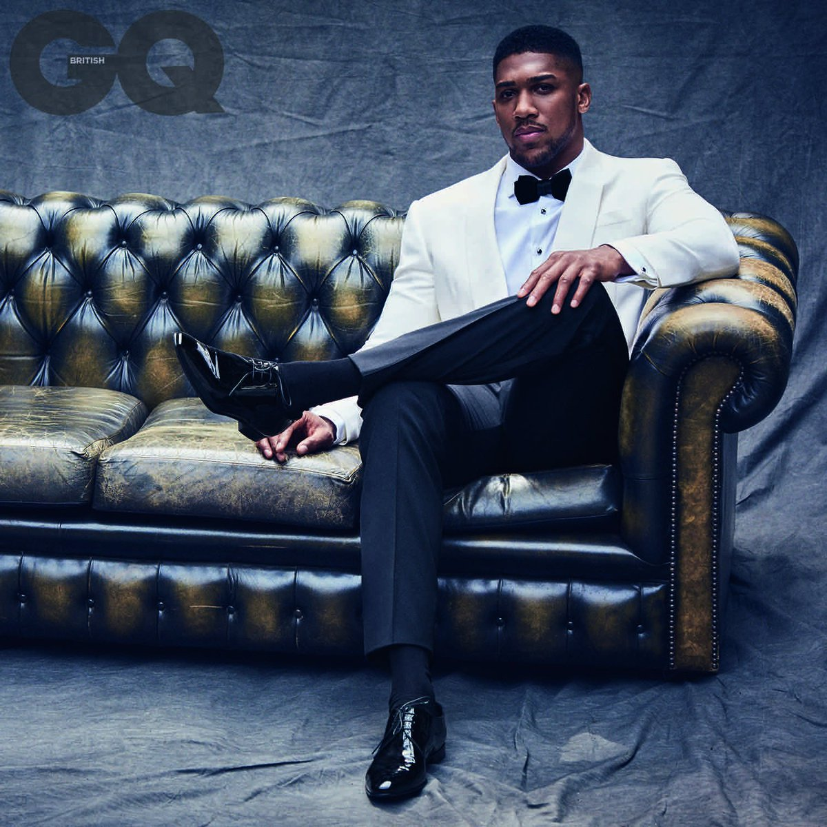 @AnthonyfJoshua featured in the October issue of @BritishGQ wearing Ralph Lauren Purple Label. https://t.co/vkCz5Rq4Kx