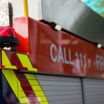 Fire collapses printing warehouse's roof