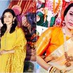 Durga Puja 2017: Alia Bhatt and Rani Mukerji's festive look. Yay orNay?
