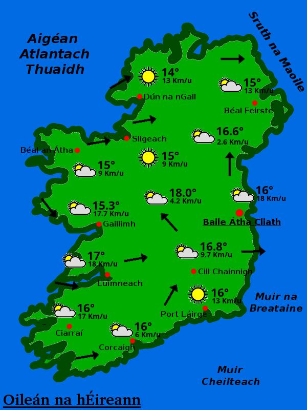 An aimsir in Éirinn faoi láthair. #gaeilge #aimsir #Ireland https://t.co/ZWCwenwty4