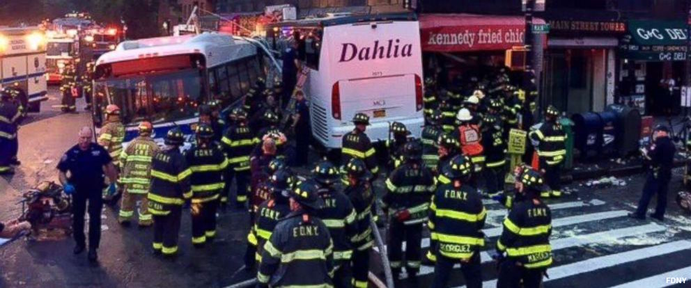 MORE: Three dead after two buses collide at densely packed intersection in Queens, NY https://t.co/Nq9vYHMbR8 https://t.co/tZCTPYGQQz