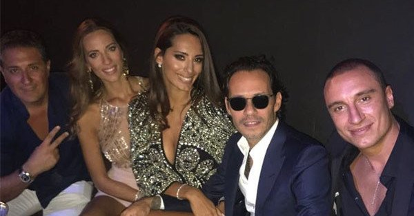 Marc Anthony kicked off his birthday at Jennifer Lopez's Las Vegas show: