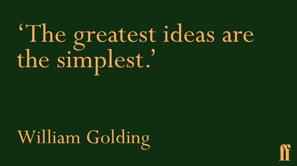 #TuesdayThoughts from William Golding, born #onthisday in 1911. https:...