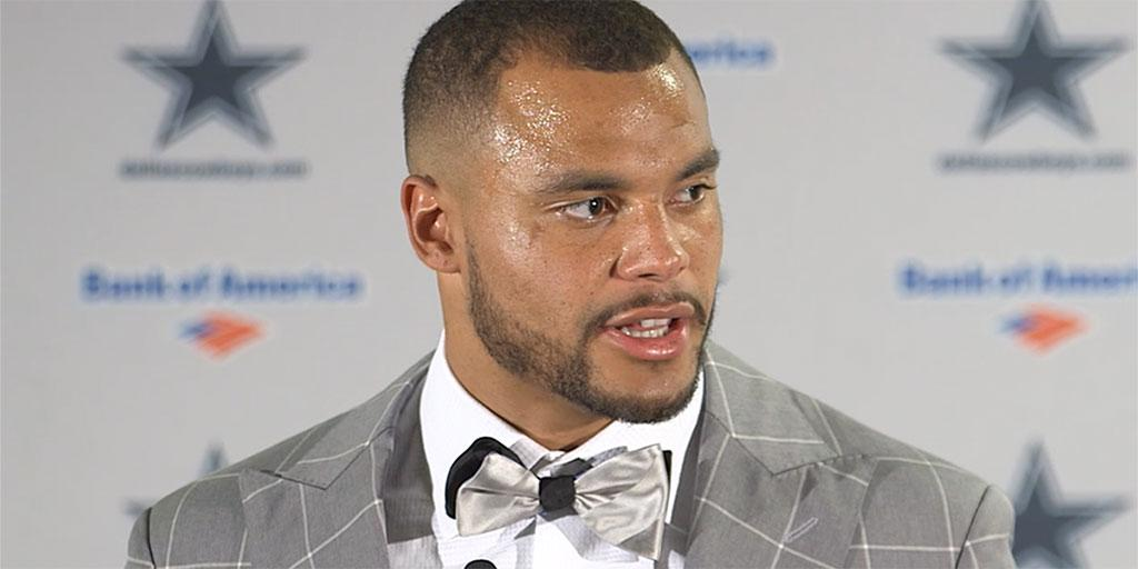 Dak Prescott meets with the media after the loss against the Denver Broncos in week 2.  ��: https://t.co/dm8lonaQps https://t.co/Ze7hY1ICco