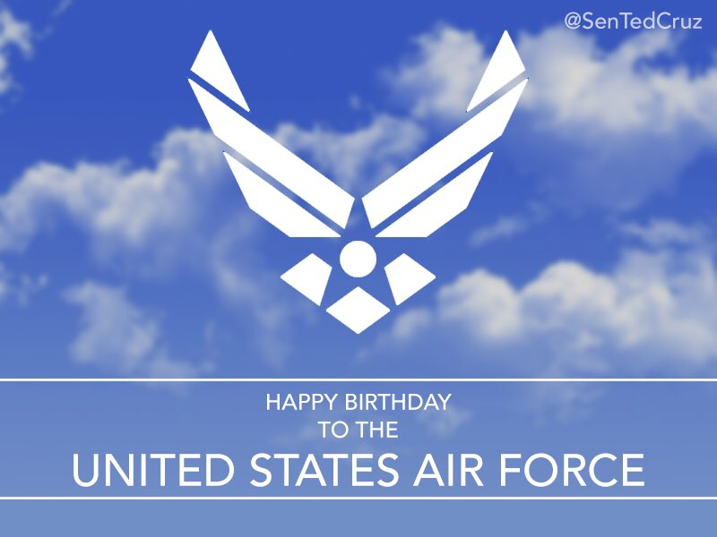 Happy 70th birthday to @USAF! Thanks to all our airmen & women for their dedicated service. https://t.co/wFSt1OK8wb