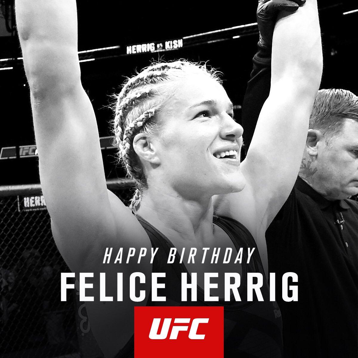 Happy Birthday to @FeliceHerrig! #UFC218 https://t.co/nBXLbWlC1k