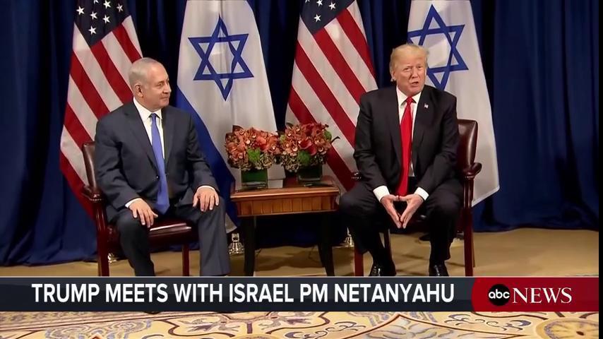 LIVE: Pres. Trump, Israeli PM Netanyahu meet at #UNGA https://t.co/PkyL3NBOVX https://t.co/cQZZaSq0UR