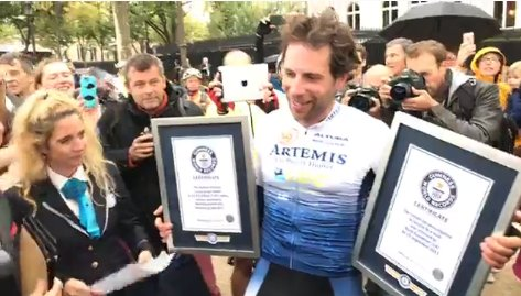 test Twitter Media - Around the world in...  79 days.  Mark Beaumont knocked 44 days off the world record for cycling around the world.  https://t.co/VaFZRFrpmQ https://t.co/ypRc2SZJpX