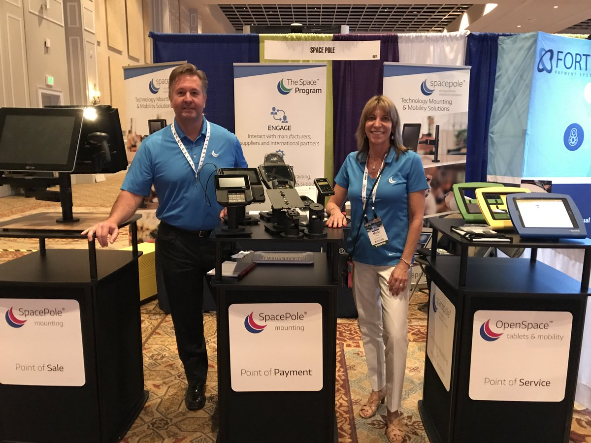 """test Twitter Media - At #Vartech? Come say """"Hello"""" to @MickiRiecke and @kirkrmorrison in their blue shirts! Just over an hour left for the exhibit hall today https://t.co/h5TW3el4wG"""