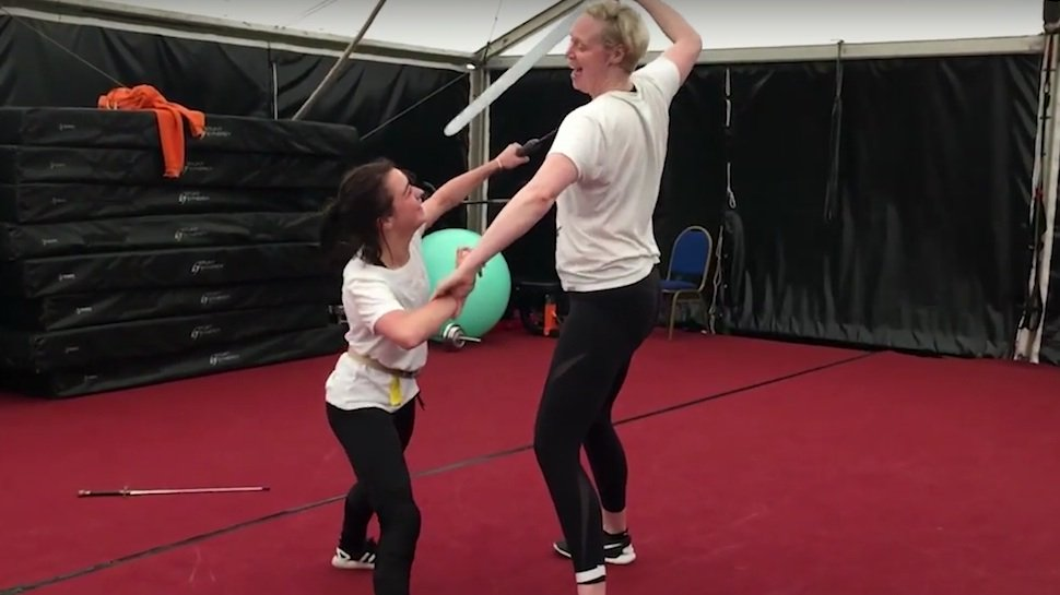 See how Arya and Brienne trained for their #GameOfThrones duel: https://t.co/AFpTBJmfrQ https://t.co/qZGgWDGLWH