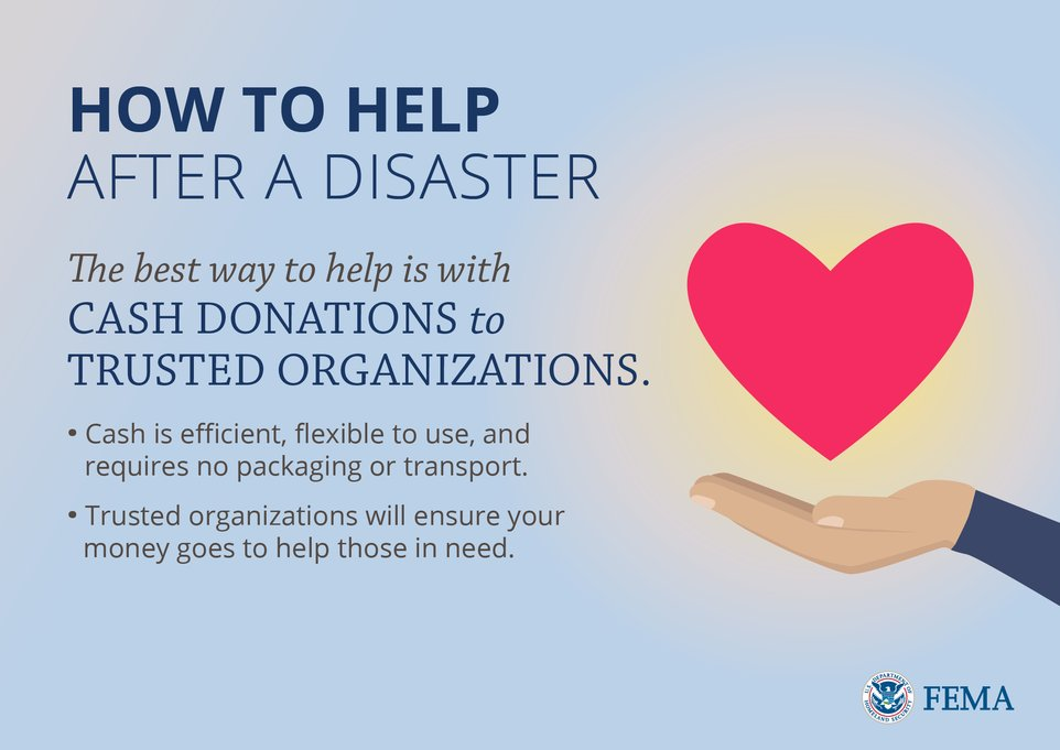 To help after #Harvey & #Irma, connect with a trusted organization @fema