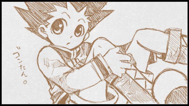 おはようございます(^^)/H×Hのゴンやキルアを描くとき、足が描きたくて画面に収めようとするから不自然になりがちです(