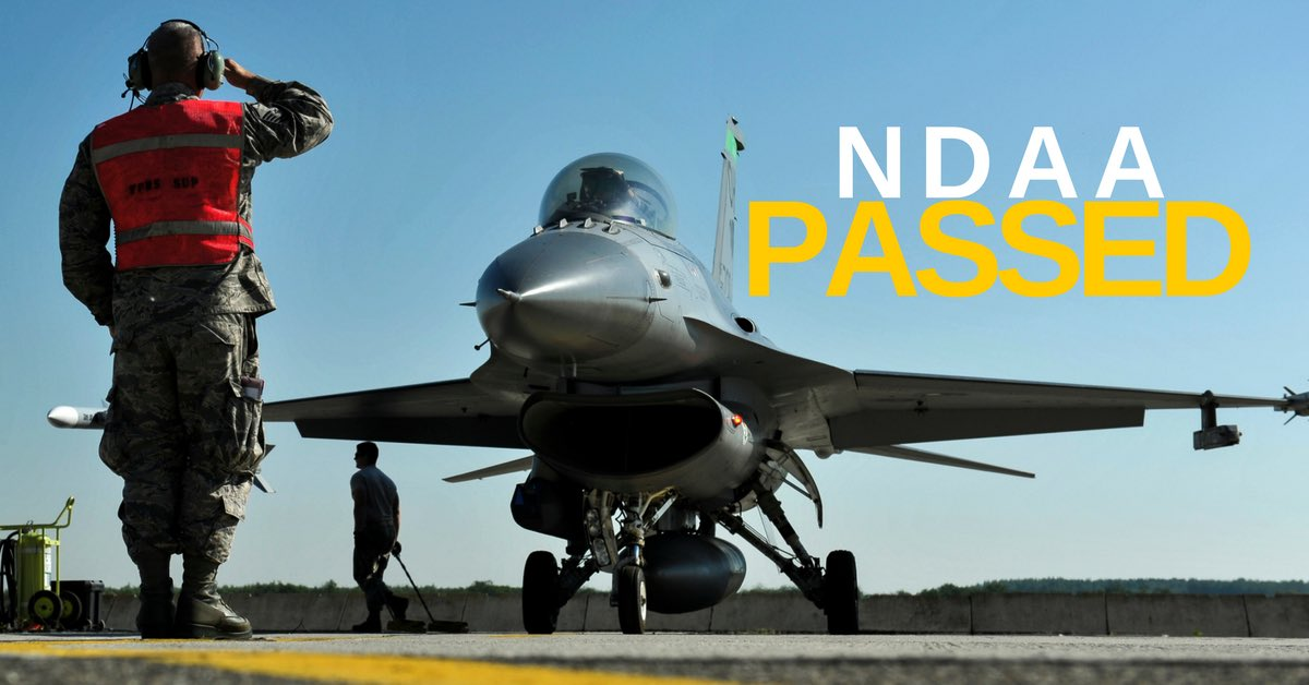 The #Senate just passed a critical defense bill to keep our military ready for the threats our nation faces. #NDAA