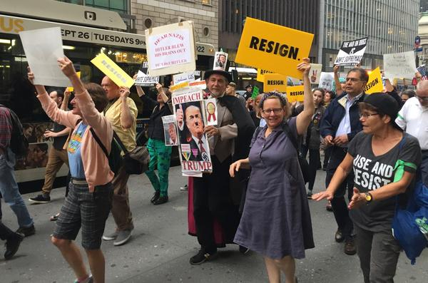 Protest fatigue keeps anti-Trump protests subdued outside the U.N. https://t.co/4QlLuV4l8V https://t.co/uFvxeKjxTO