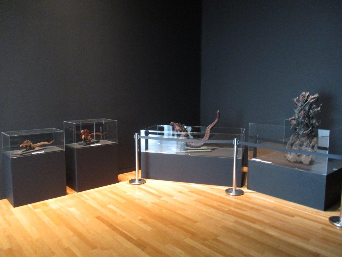 『文化庁メディア芸術祭 受賞作品展』シン・ゴジラ第2形態、第3形態、第4形態、第5形態が揃い踏み。第2形態~第5形態が揃