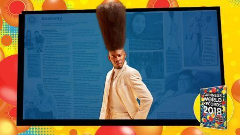【ゴンさん状態】世界一髪が縦に高い男性がギネス認定米国ロサンゼルスに住むBenny Harlemさんが、世界一縦に高い髪
