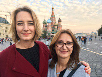 My heart skipped a beat.. #RedSquare #Moscow. Here with producer & host extraordin ...