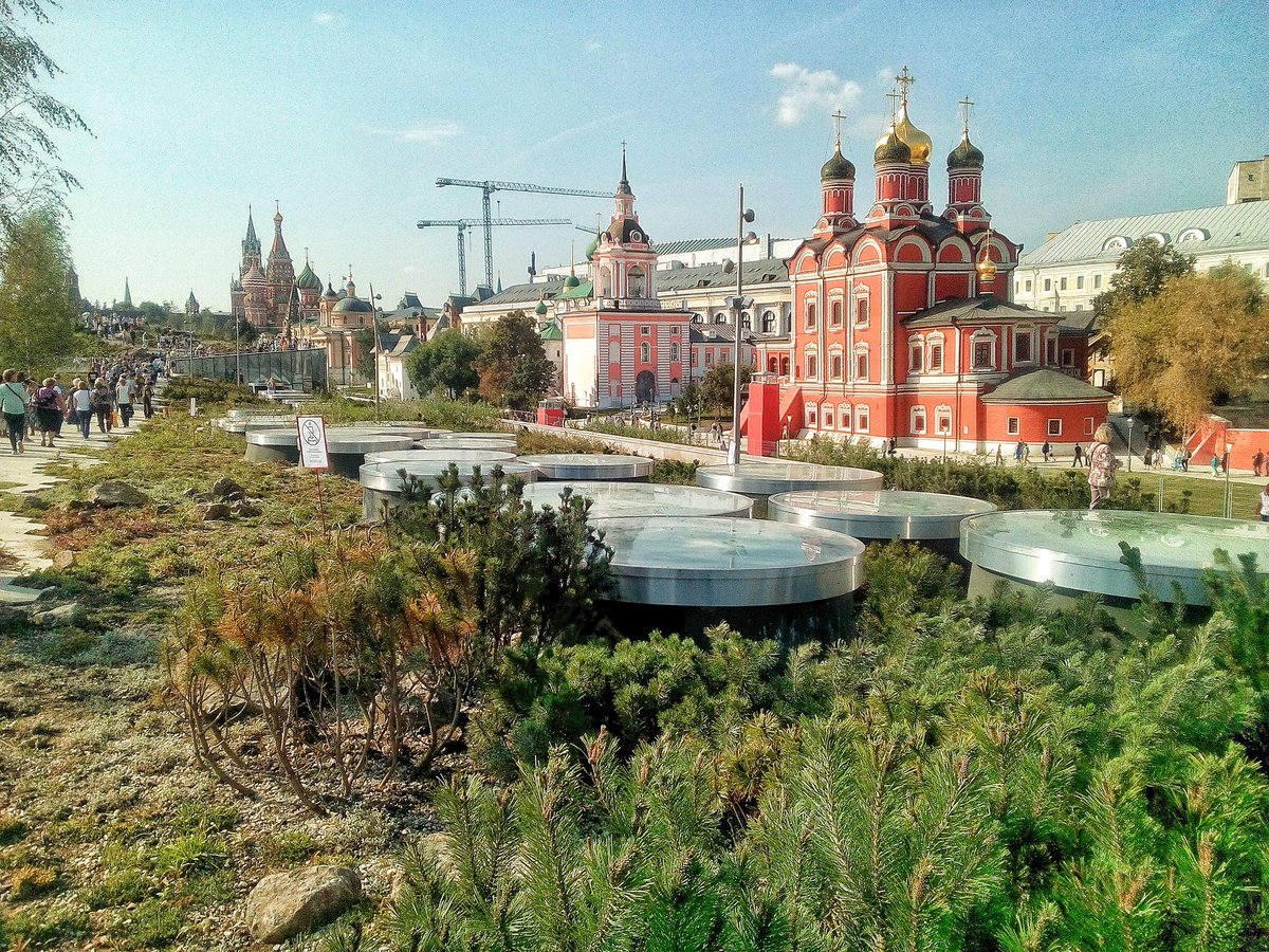 A new Park near the Red Square in Moscow. #zariadyepark #landscape #redsquare #moscow  ...