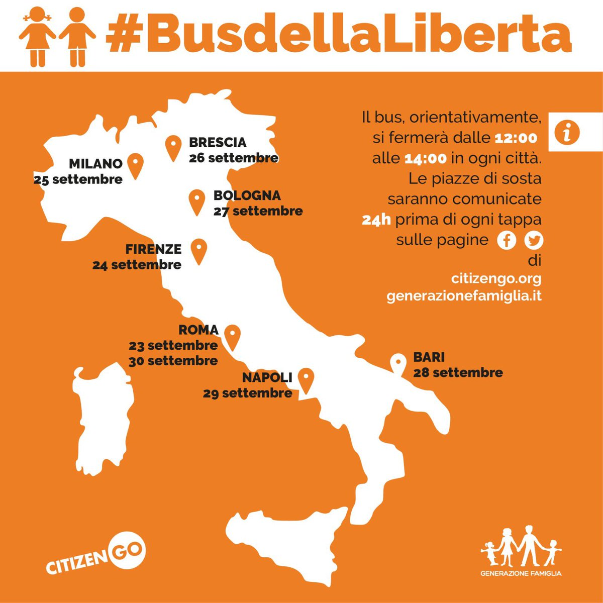 #BusdellaLiberta