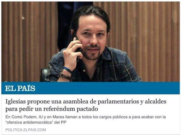 """El primer titular decía """"pedir un referéndum pactado"""". Luego se cambió por """"apoyar el separatismo"""". 🤔"""
