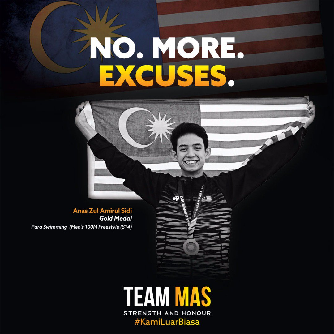 RT @myTeamMAS: 3 GOLD medals for #TeamMAS on Day 2 of para swimming 🏊🏅🏅🏅👏 #KamiLuarBiasa https://t.co/aKcLgT0a3h