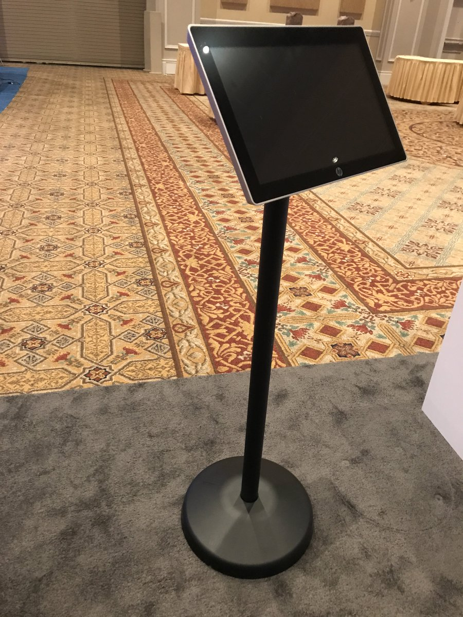 test Twitter Media - See our strong & secure floor stand mount at the @HP booth at #VARTECH - Only a few hours left to make your rounds on the exhibit floor! https://t.co/qwfvE18dT8