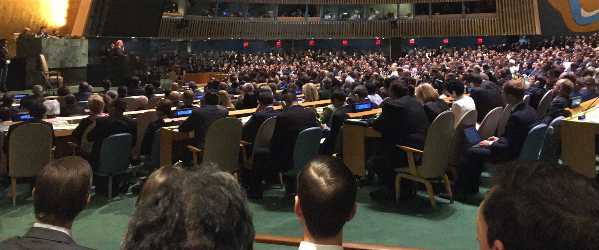 'If the righteous many do not confront the wicked few then evil will triumph' @POTUS at #UNGA https://t.co/K6rC9Ce6Bk