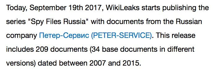 RELEASE Spy Files #Russia #SORM #FSB #SpyFilesRU
