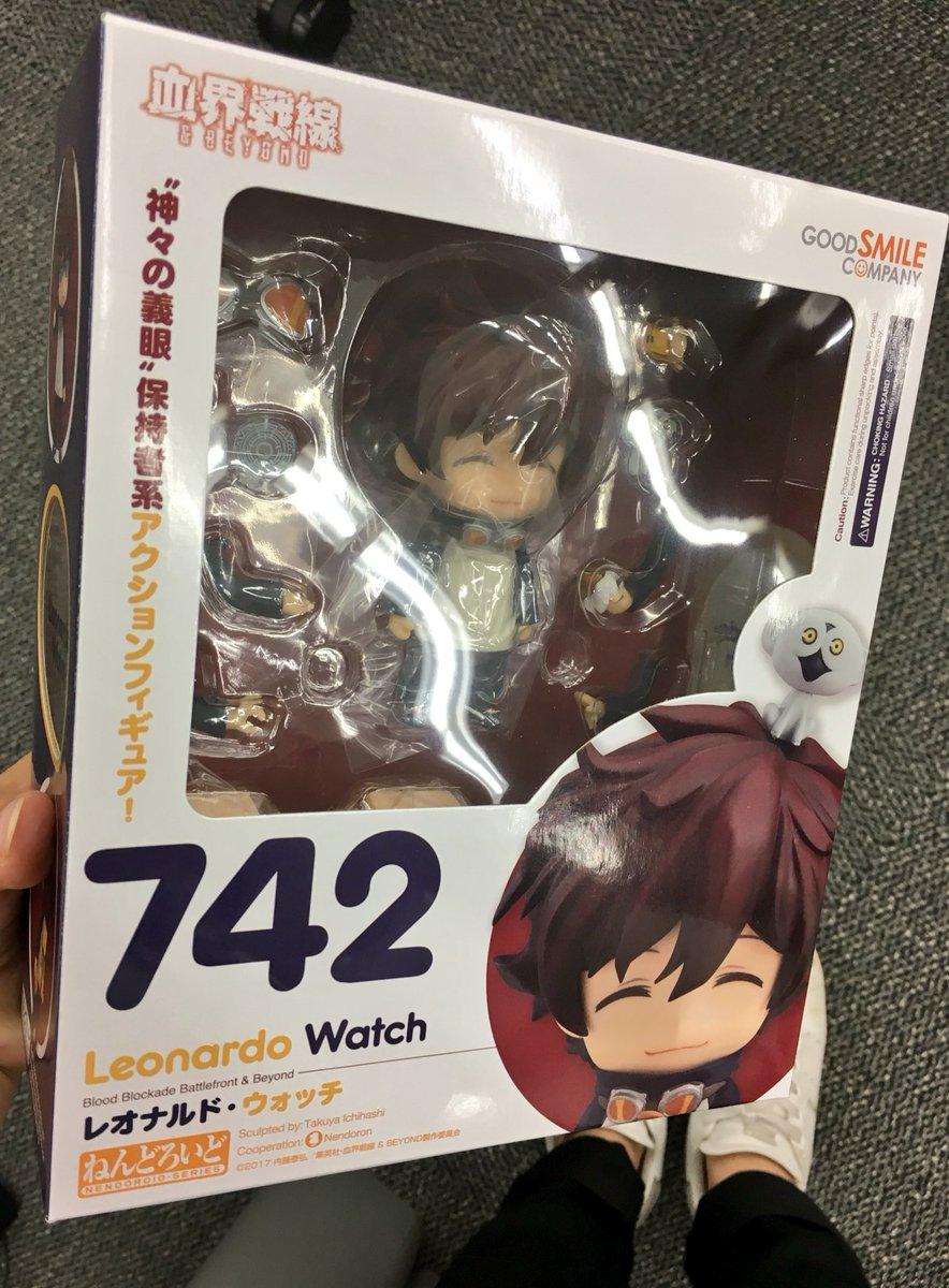 レオのねんどろいどゲットしましたー!わーい!ソニックもついてるわーい!かわいい! #kekkai_anime #血界戦線