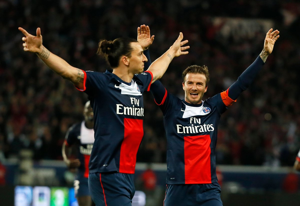 """Zlatan: """"Anyone who has negative things to say [about Beckham] is either jealous or hates him."""" https://t.co/n8kF2TcywZ"""