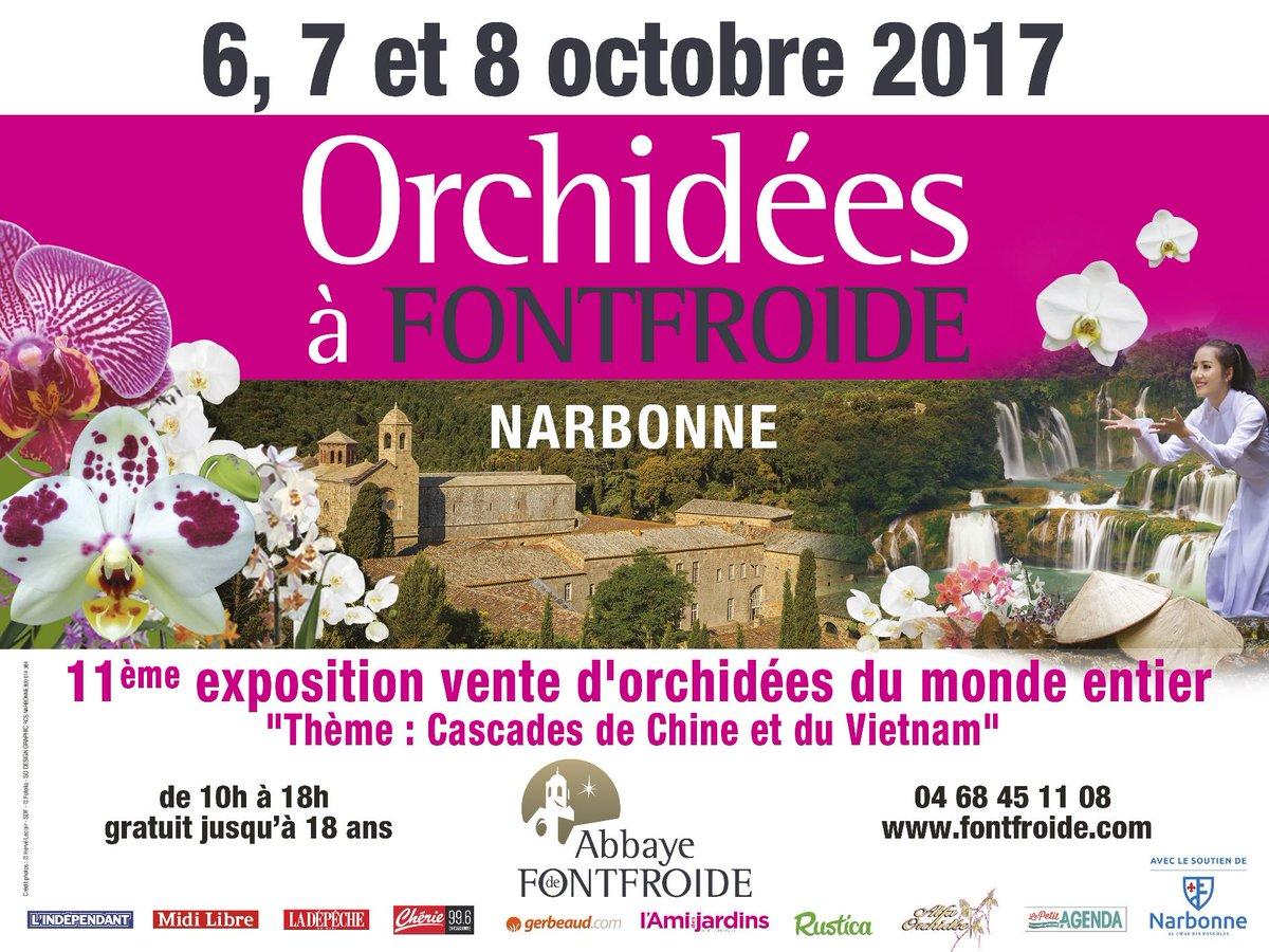 Grand évènement floral les 6, 7 & 8 octobre : les Orchidées à Fontfroide !...