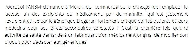 #Lévothyrox. Le mannitol du générique BIOGARAN décrié par médecins et patients? ��https://t.co/RaE2CLg3nL @vfromentin https://t.co/I2sDLJ0Xva