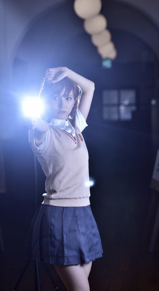 ※コスプレ【とある科学の超電磁砲】御坂美琴 レベル5学園都市 第3位写真…翡翠さん(  )