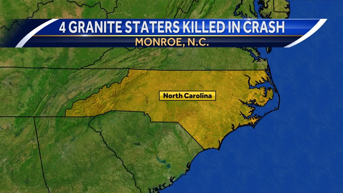 4 Granite Staters from same family killed in crash in North Carolina