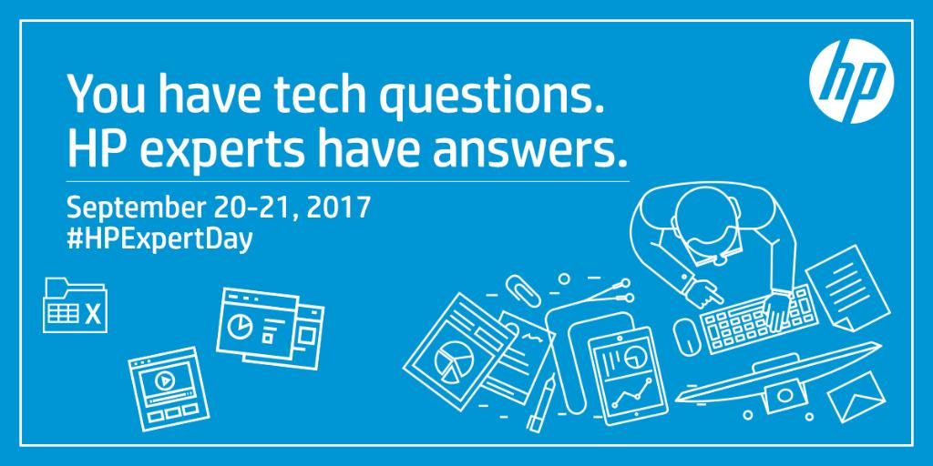 Know what tomorrow is HPExpertDay Tune in to get support for your HP products https t.co Li3e8tW8Ld https t