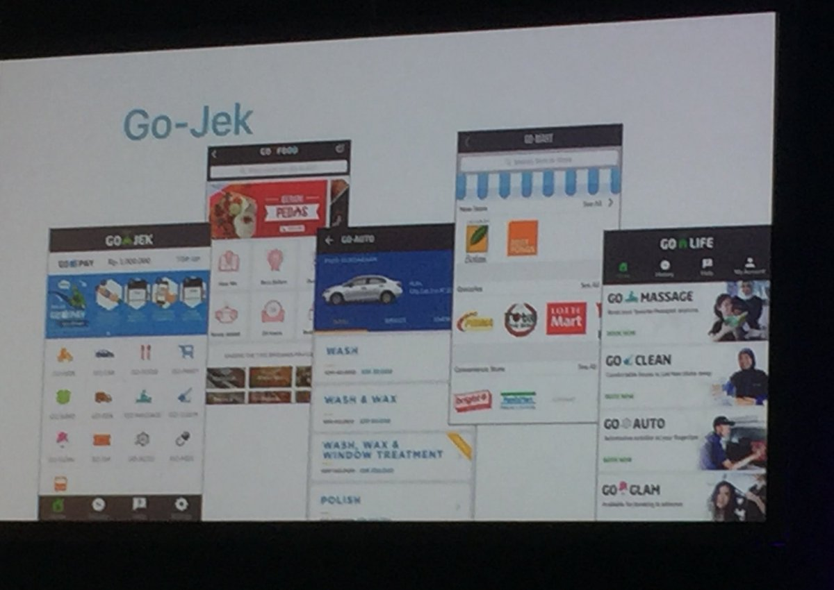 Super app: one app & many, many functions. Example: GoJek which has 12 diff functions. Connie Chan @womenpm #WIP2017 https://t.co/qPw5fkQ89o