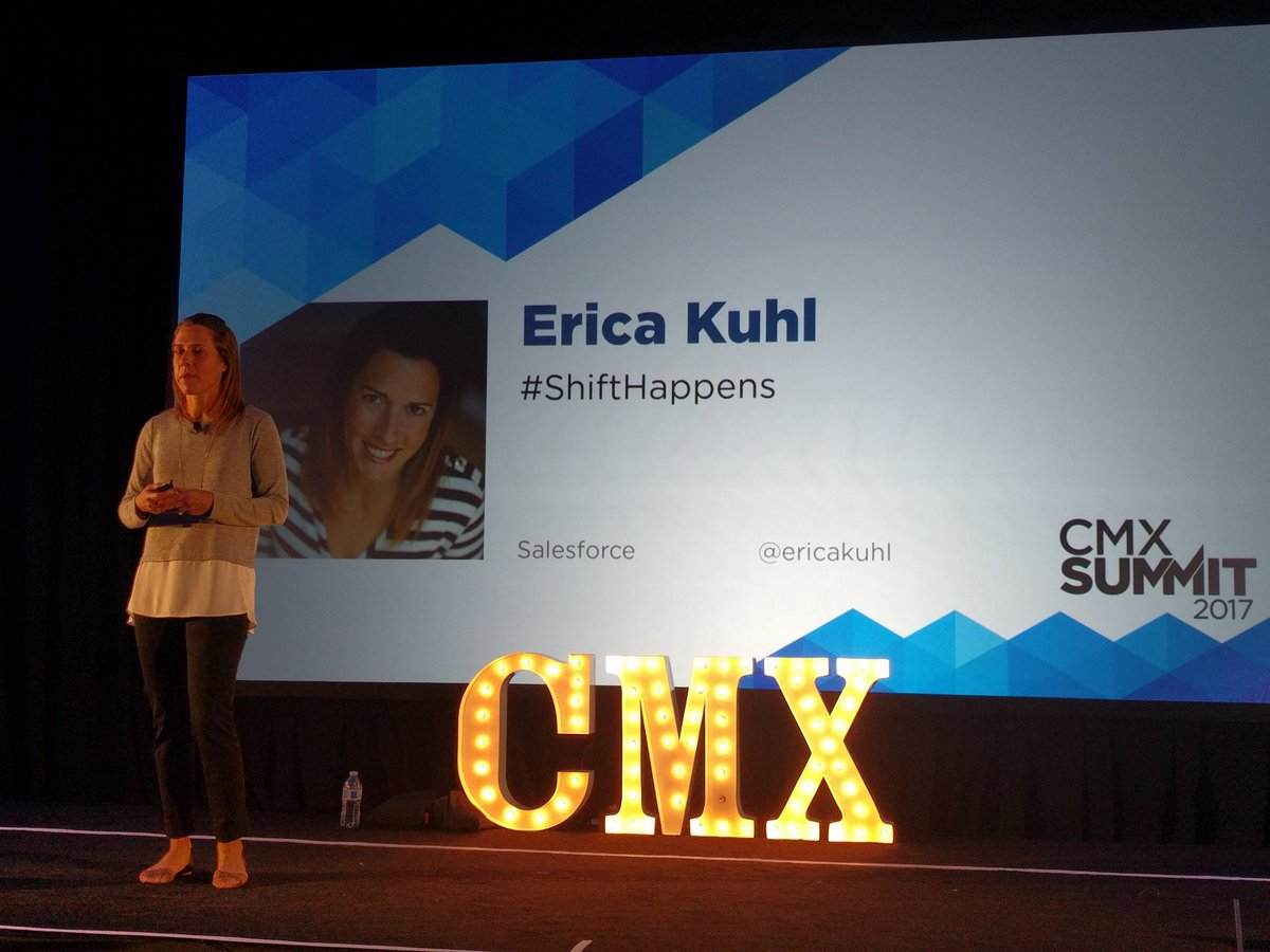 Community is at the center of a shift at #SFDC  with Trailhead - @ericakuhl #CMXSummit https://t.co/FmjQK3PJOC