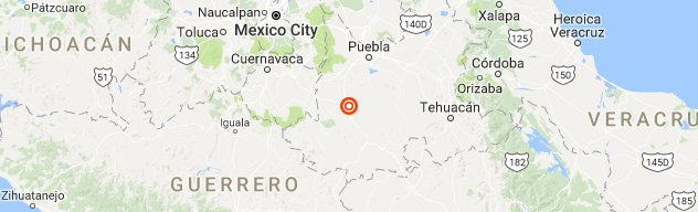 7.1 earthquake 23 miles fr Puebla, Mexico.  32 years to the day of an 8 magnitude quake that struck Mexico City. https://t.co/SXh14MSORq