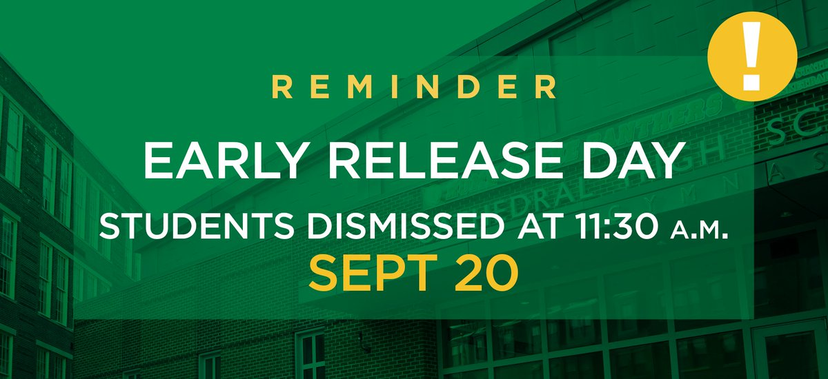 test Twitter Media - Reminder: Students will be dismissed early at 11:30 a.m tomorrow, Wed Sept 20th: https://t.co/6ePX9l4zyE https://t.co/3fA6IRvFT4