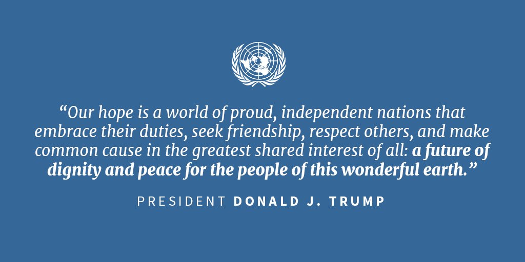 '...a future of dignity and peace for the people of this wonderful earth.' #UNGA https://t.co/sIjB3PSOfg https://t.co/66kinfBGR4