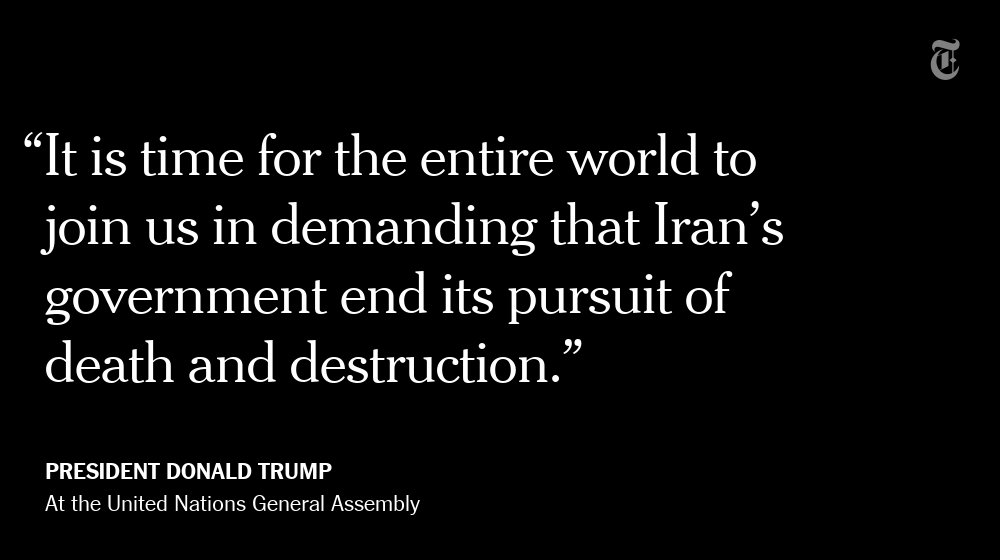 """After condemning North Korea,  Trump pivoted to the next """"rogue nation"""" — Iran. https://t.co/BPi8TZ8rwg https://t.co/uawWlpMwWj"""