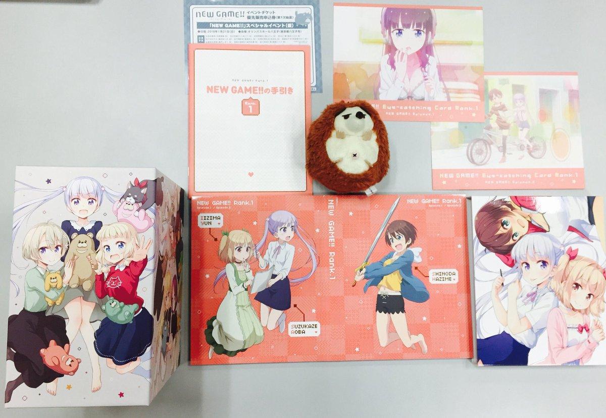 BD&DVD NEW GAME!!Rank.1は9月27日(水)発売♪原作・得能正太郎描き下ろし全巻収納BOXや