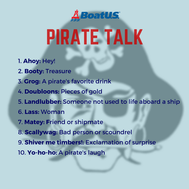 RT @BoatUS: Shiver me timbers! It's Talk Like a Pirate Day. What other pirate lingo are you practicing today? https://t.co/GOkZLImDn0