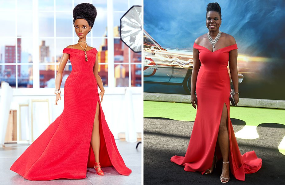 These red-carpet looks by @CSiriano for Barbie look a little familiar (cc: @Lesdoggg): https://t.co/Iuhz8I54b6 https://t.co/2AQf0eHEIQ