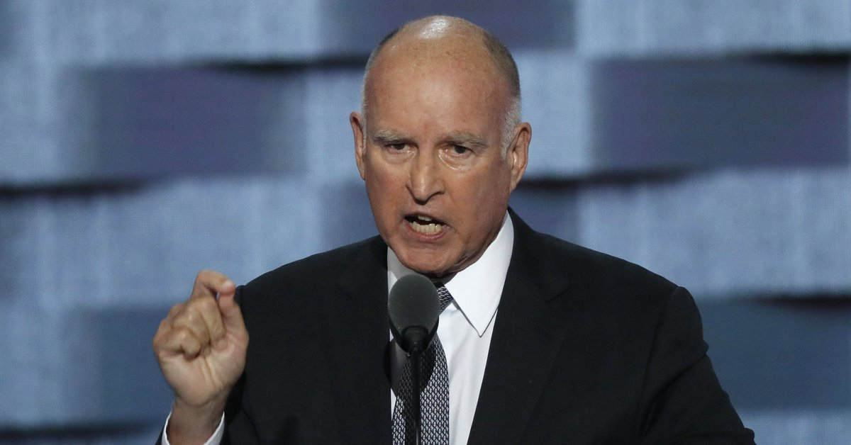 "Jerry Brown compares Trump supporters to ""troglodytes"" who ""dwell in deep, dark caves"""
