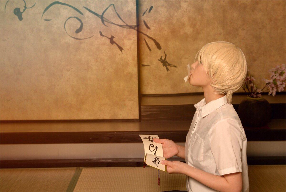 #cosply夏目友人帳より  夏目貴志台風接近中のスタジオ撮影とても綺麗に撮っていただいて感動した(´;ω;`)ブワ
