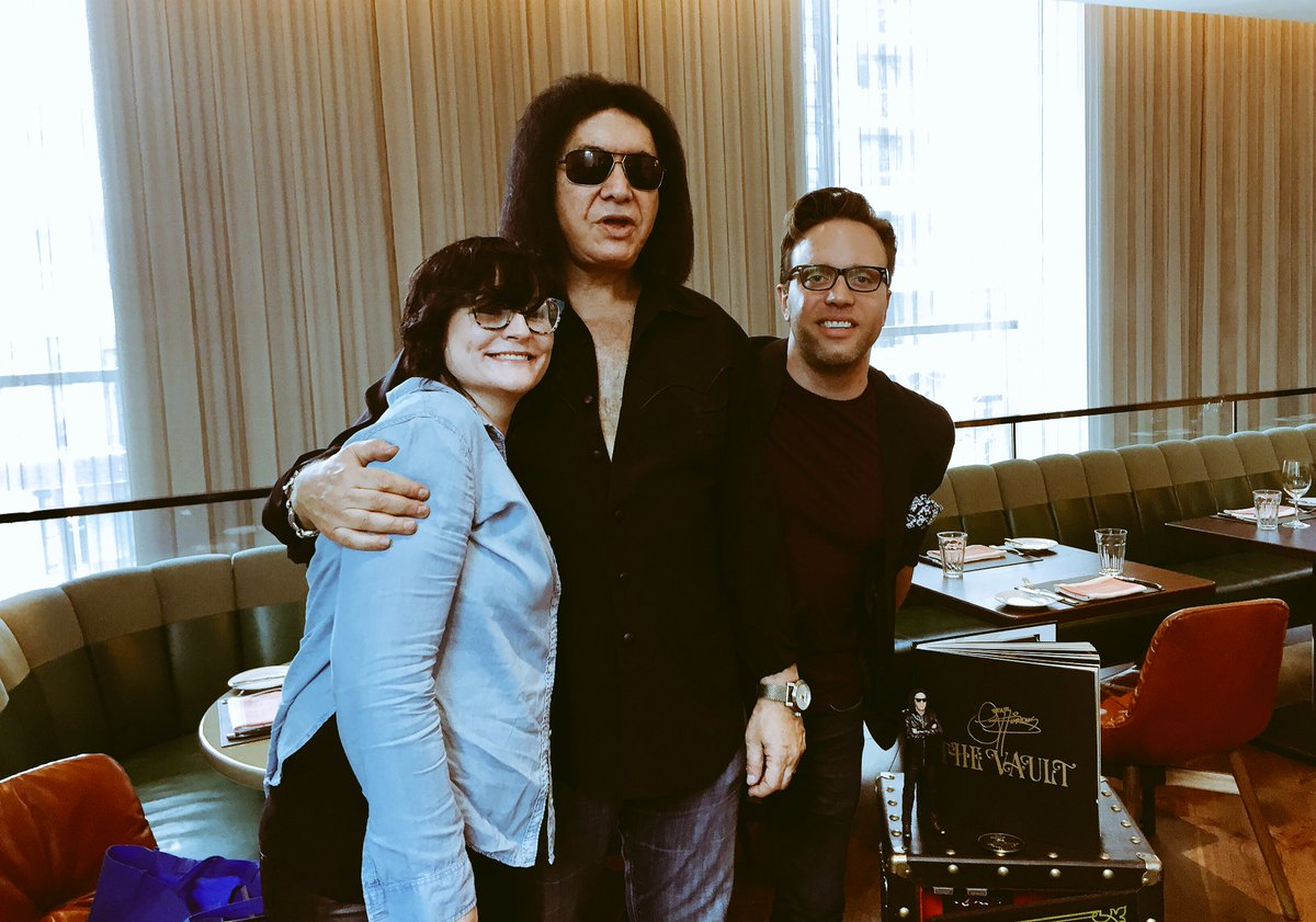 test Twitter Media - Just a couple rockstars and @genesimmons. It was a pleasure. FULL interview coming soon. 👅 #TheVault #GeneSimmons @WardandAl https://t.co/ouZDOUX16o
